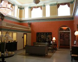 Lobby of the The Charley Creek Inn in Wabash